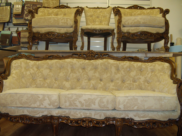 Image of repaired sofa and chairs
